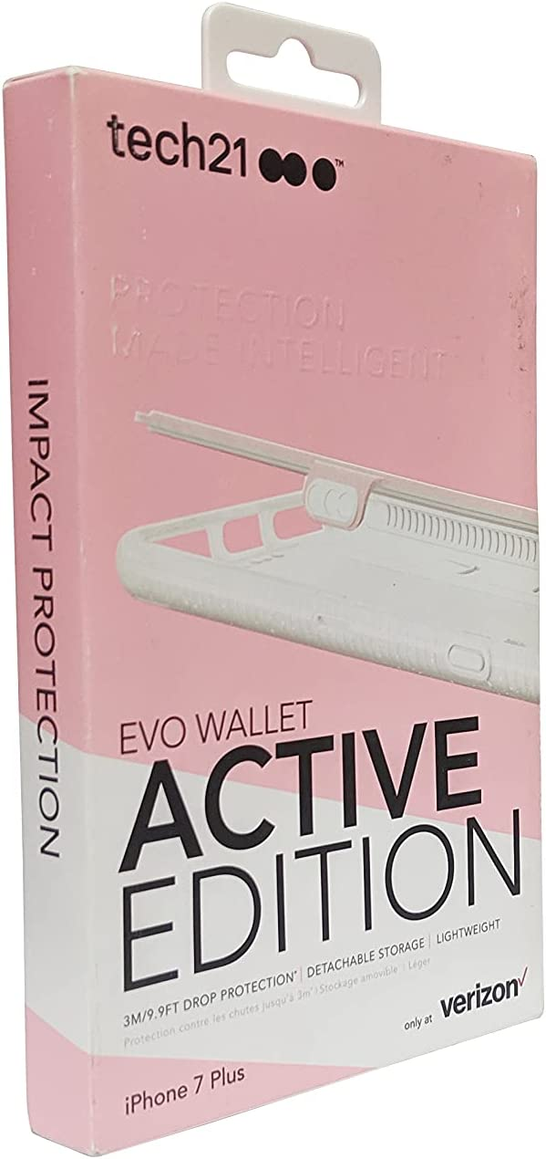 Tech21 Evo Wallet Active Edition Case iPhone 7 Plus Pink