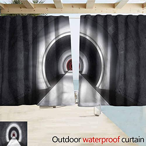 MaryMunger Thermal Insulated Blackout Curtains Outer Space Satellite Interstellar Simple Stylish Waterproof W55x63L Inches