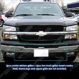 07 silverado black grill - 03-06 Chevy Silverado Bumper Black Billet Grille Grill Combo Insert