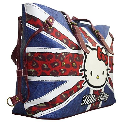Hello Kitty England Flag Borsa da Donna a Spalla Shopper Tote Venta Nuevos Estilos cCag9TDvMk
