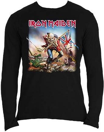 Rock Off - Camiseta de Manga Larga - Manga Larga - para Hombre: Amazon.es: Ropa y accesorios