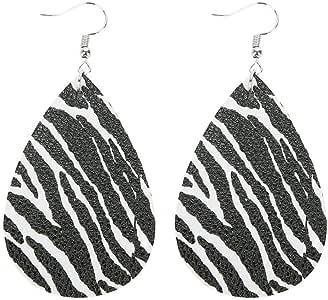 Amazon.com: Iulove Leopard Print Earrings Water-Drop