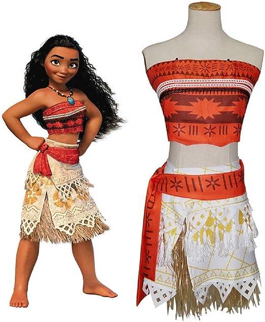 GACOSPLAY Moana Vaiana Disfraz Costume Niña Bebe, Princesa Disfraz ...