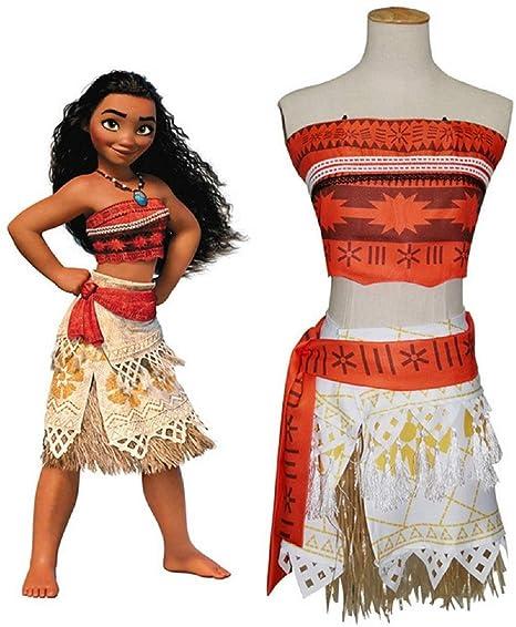 GACOSPLAY Moana Vaiana Disfraz Costume Niña Bebe, Princesa ...