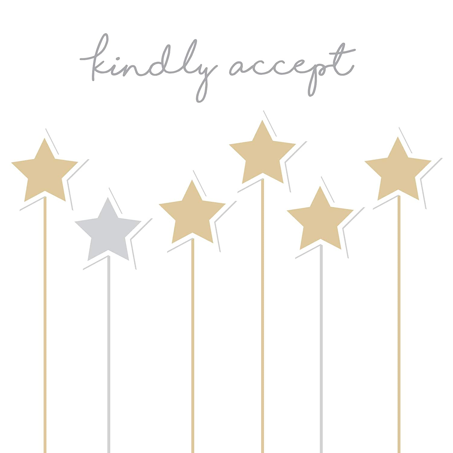 Kindly Accept Card - Acceptance Card - Stars Design by Jonathan Glick Jonathan Glick Designs