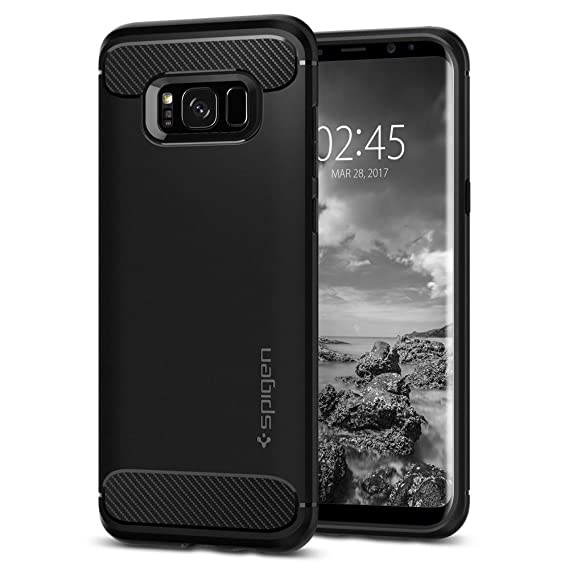 Spigen Rugged Armor Galaxy S Case With Resilient Shock Absorption And Carbon Fiber Design For Samsung