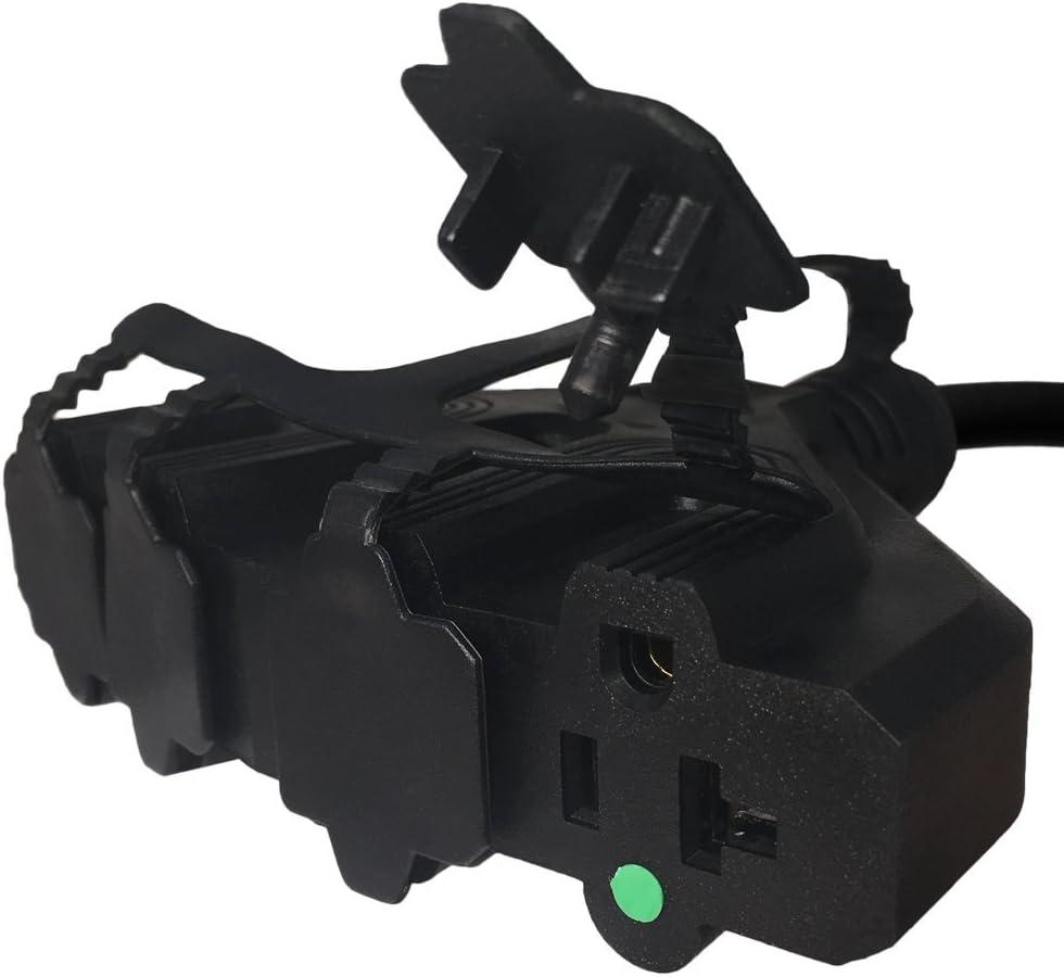 10 ft IBX-12007-10 125V 15A Iron Box 5-15P 3-Prong Plug to 4X 5-15//20R Quad Box Power Cord
