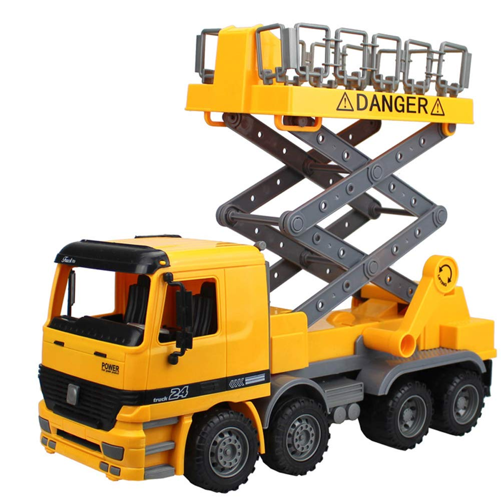 Persevering Melody - Toy Fricción Powered Camión Juguete para Niños, Street Lamp Reparación Avería Coche Juguete