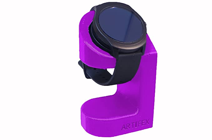TicWatch 2 Stand, Artifex Charging Dock Stand for Tic Watch 2 Watch, New 3D Printed Technology, Smartwatch Cradle Tic Phone Combo (Purple)