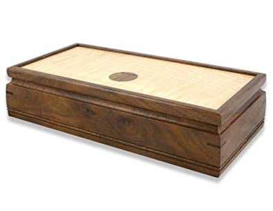 Amazoncom Small 11 Handmade Wood Jewelry Box American Walnut and