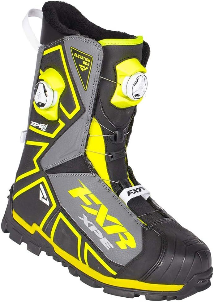 Black//White//Charcoal, Mens 10 // Womens 12 // EU43 FXR X-Cross Pro BOA Boot
