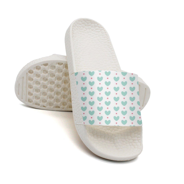 HSJDAPOCOAQ Green Love Hearts Summer Slides For Men