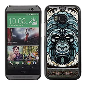 A-type Arte & diseño plástico duro Fundas Cover Cubre Hard Case Cover para All New HTC One (M8) ( Hermoso y sofisticado Gorila Ilustración )