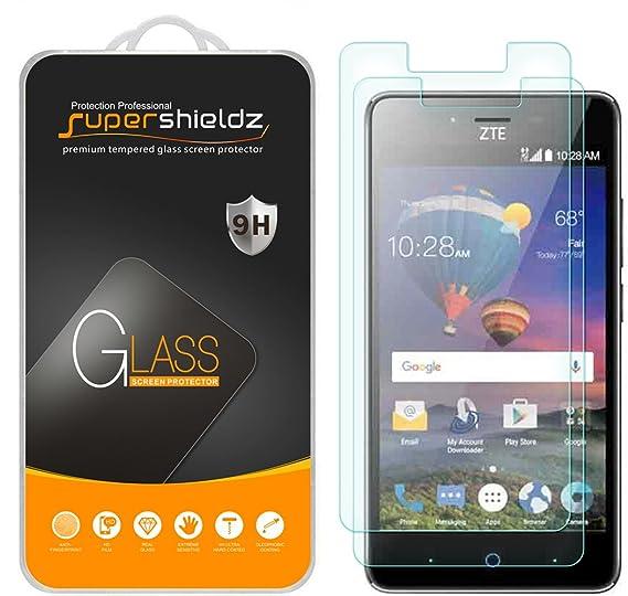 watch 2acaa edd3d [2-Pack] Supershieldz for ZTE ZFIVE L LTE Tempered Glass Screen Protector,  Anti-Scratch, Anti-Fingerprint, Bubble Free, Lifetime Replacement