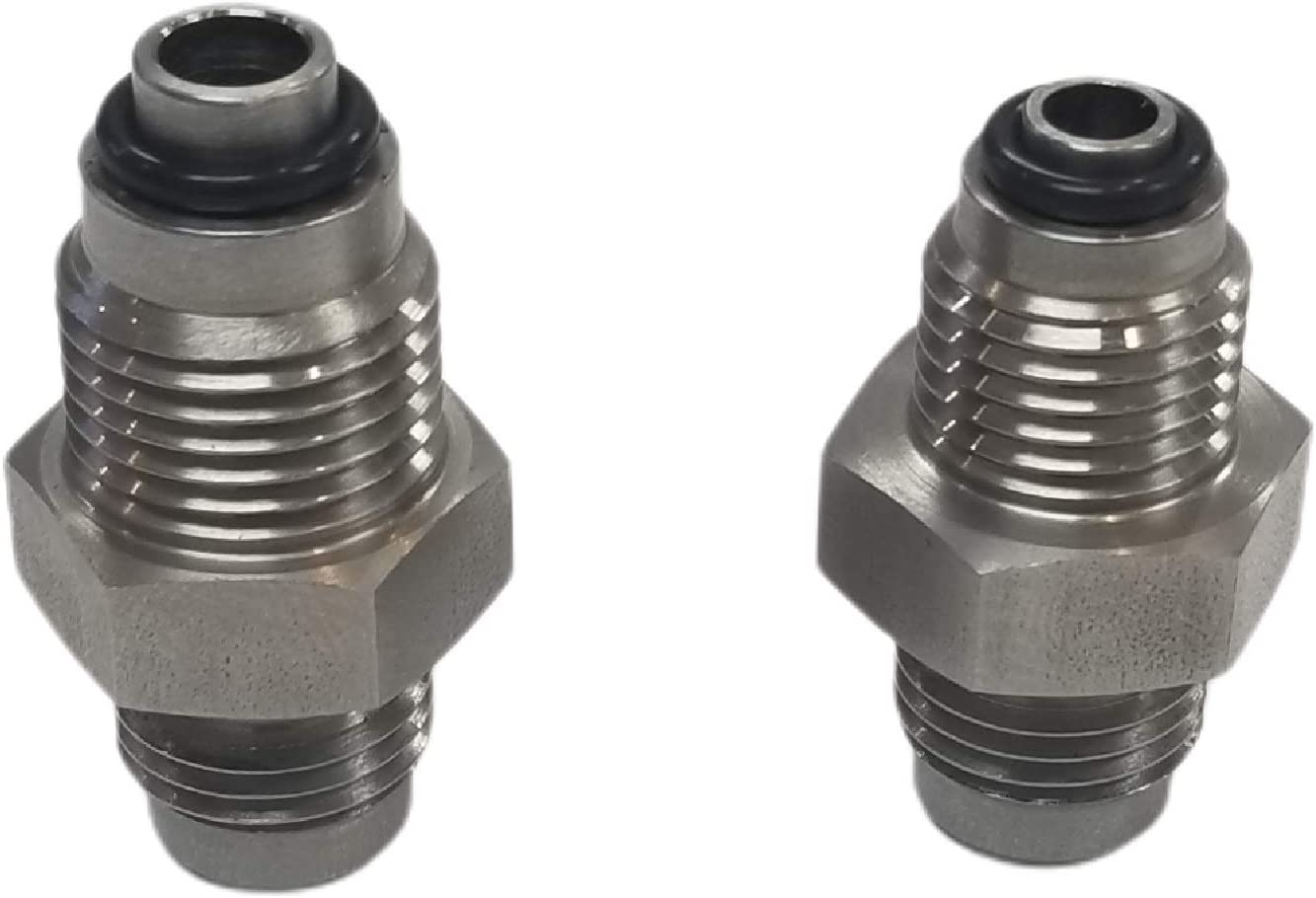 Stainless Steel GM TBI TPI -6AN Fuel Line Adapter Fittings 92-97 LT1 96-98 Vortec M14-1.5 M16-1.5 O-ring Gas Hose 37 Degree JIC -6 6 AN AN6 9/16-18 Flare Thread OBS Metric Made In USA