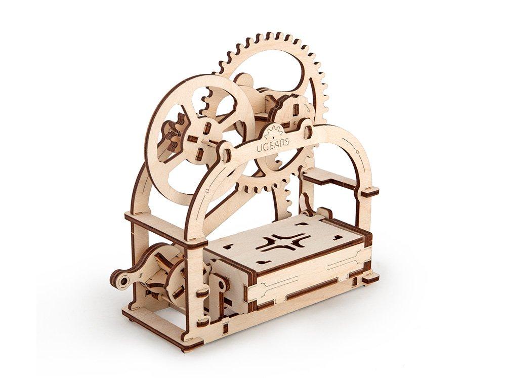 UGEARS 70001 - Mechanical Box Mechanische Schatulle, 3D-Holzbausatz ohne Klebstoff