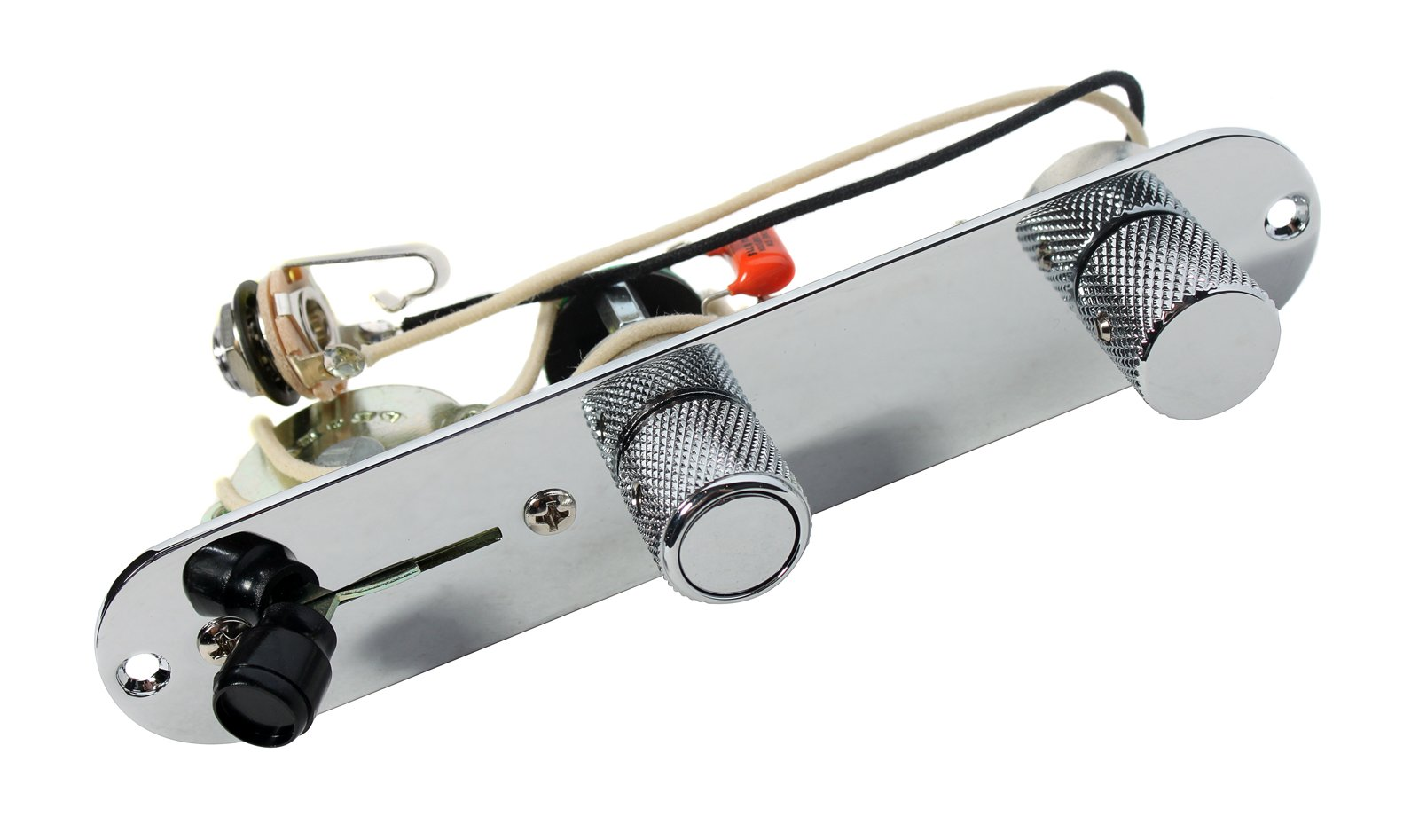 920D Custom Shop Fender Telecaster 4 Way Baja Control Plate w/S1 Switch, Chrome by Custom Shop (Image #1)