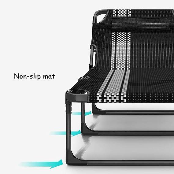SjYsXm-tumbonas Tumbona Silla reclinable Silla de Descanso Cero Gravedad Piscina Chaise Lounge Cuna Ajustable Camping Tomar el Sol Playa (Color ...
