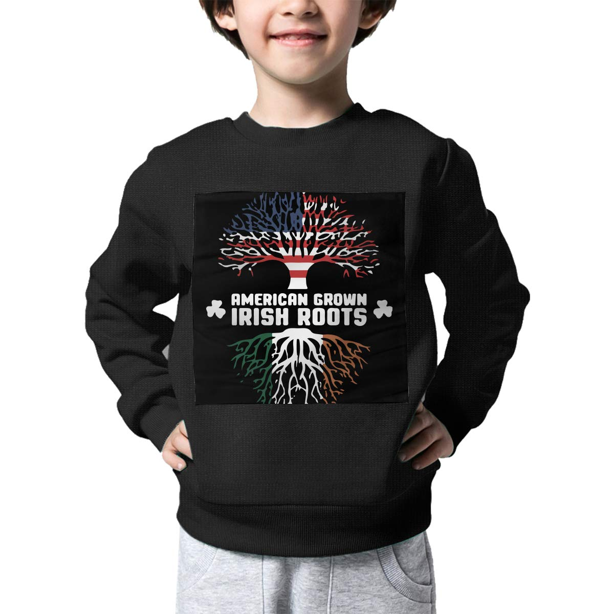 NJKM5MJ Boys Girls American Grown with Irish Roots 1 Lovely Sweaters Soft Warm Childrens Sweater