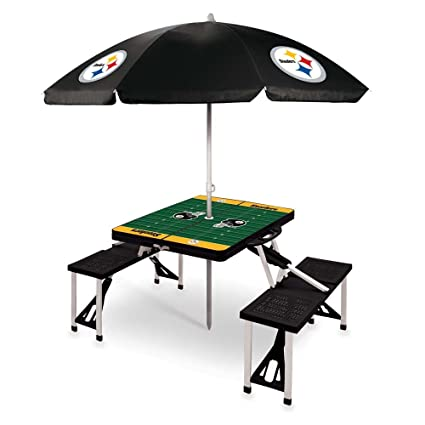 Amazoncom PICNIC TIME NFL Pittsburgh Steelers Picnic Table Sport - Picnic table print