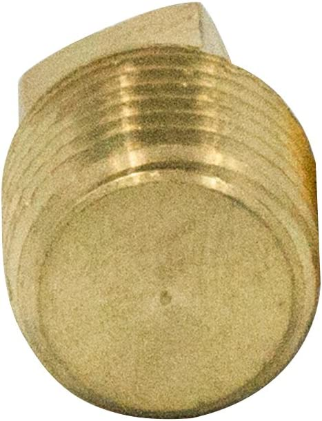 Pack of 2 Fuel//Air//Water//Boat//Gas//Oil WOG//BILGE//GARBOARD//BUNG Legines NPT Pipe Plug Solid Brass Square Head 1//8 Male Fitting