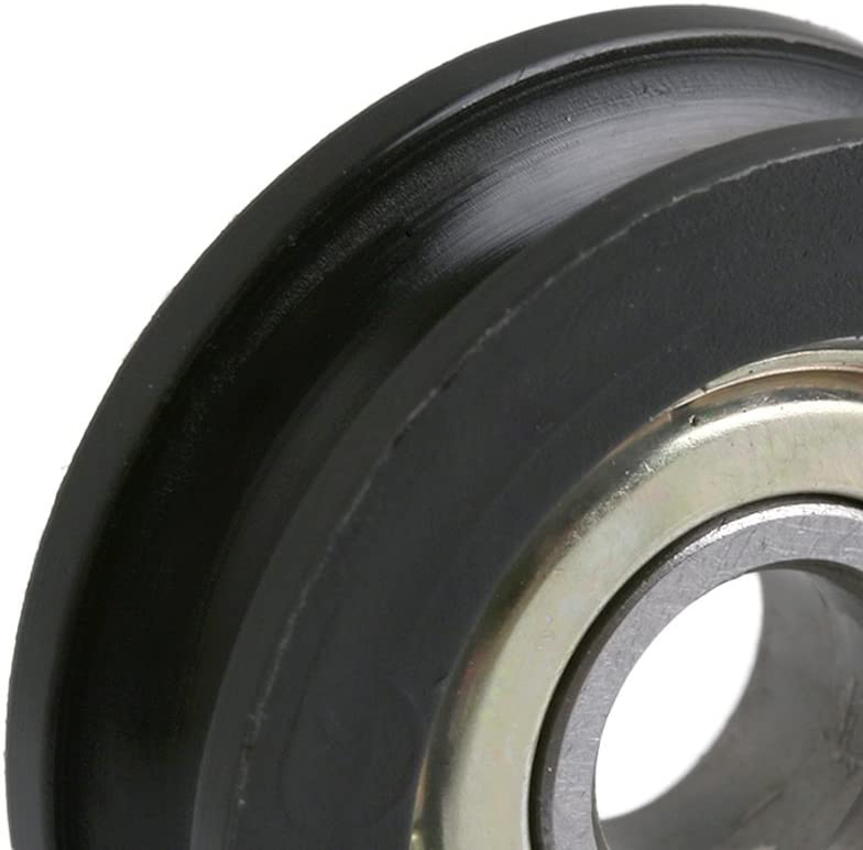4pcs 8x30x10mm Steel Ball Bearing U-Type Groove Door Pulley Sliding Roller