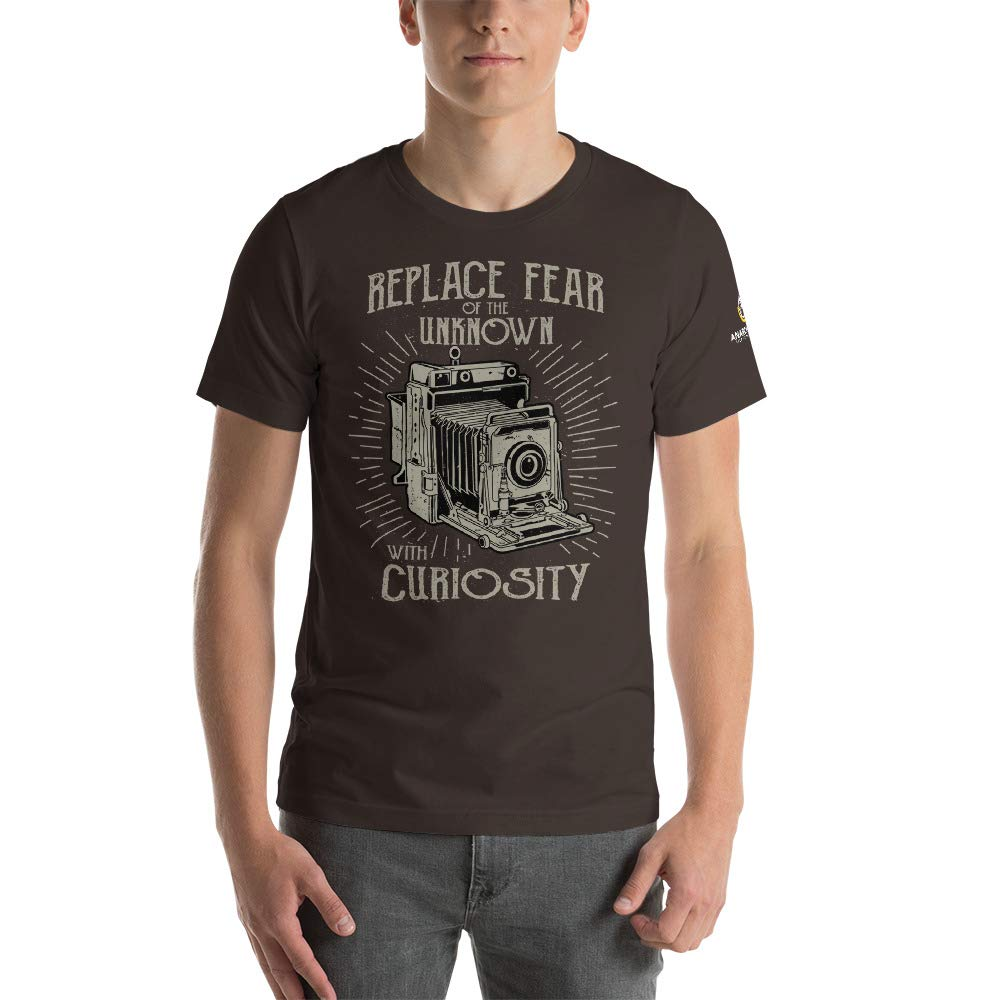 Replace Fear with Curiosity T-Shirt Brown