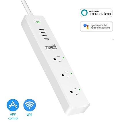 smart power strip wifi remote control surge protector wireless rh amazon com