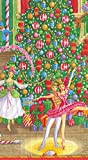 Entertaining with Caspari 13430G Christmas Ballet Paper, Guest Towel, Multicolor