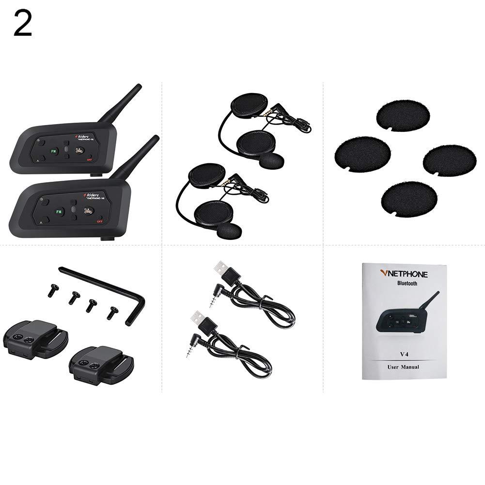 yanbirdfx 1200M オートバイ Bluetooth ヘルメット 防水 ハンズフリー コール インターコム ブラック 2 インターコム B07J4X8DWD