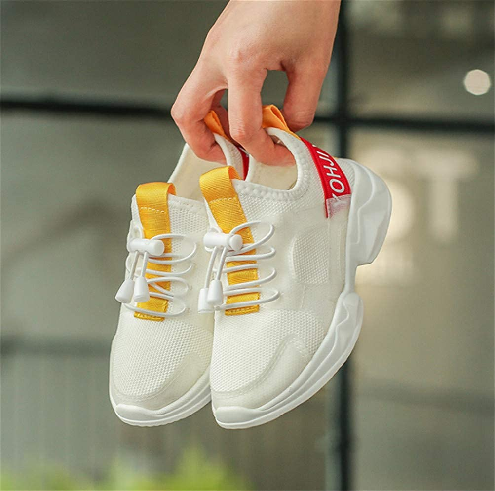 Gusha Childrens Casual Light Breathable Sneakers Easy Walking Shoes White 29