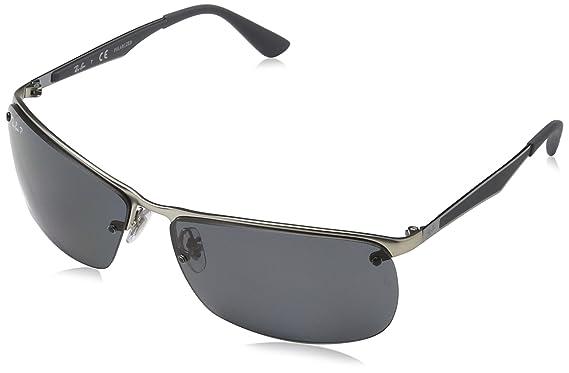 RAY-BAN RB 3550 Gafas de sol, Matte Silver, 64 para Hombre