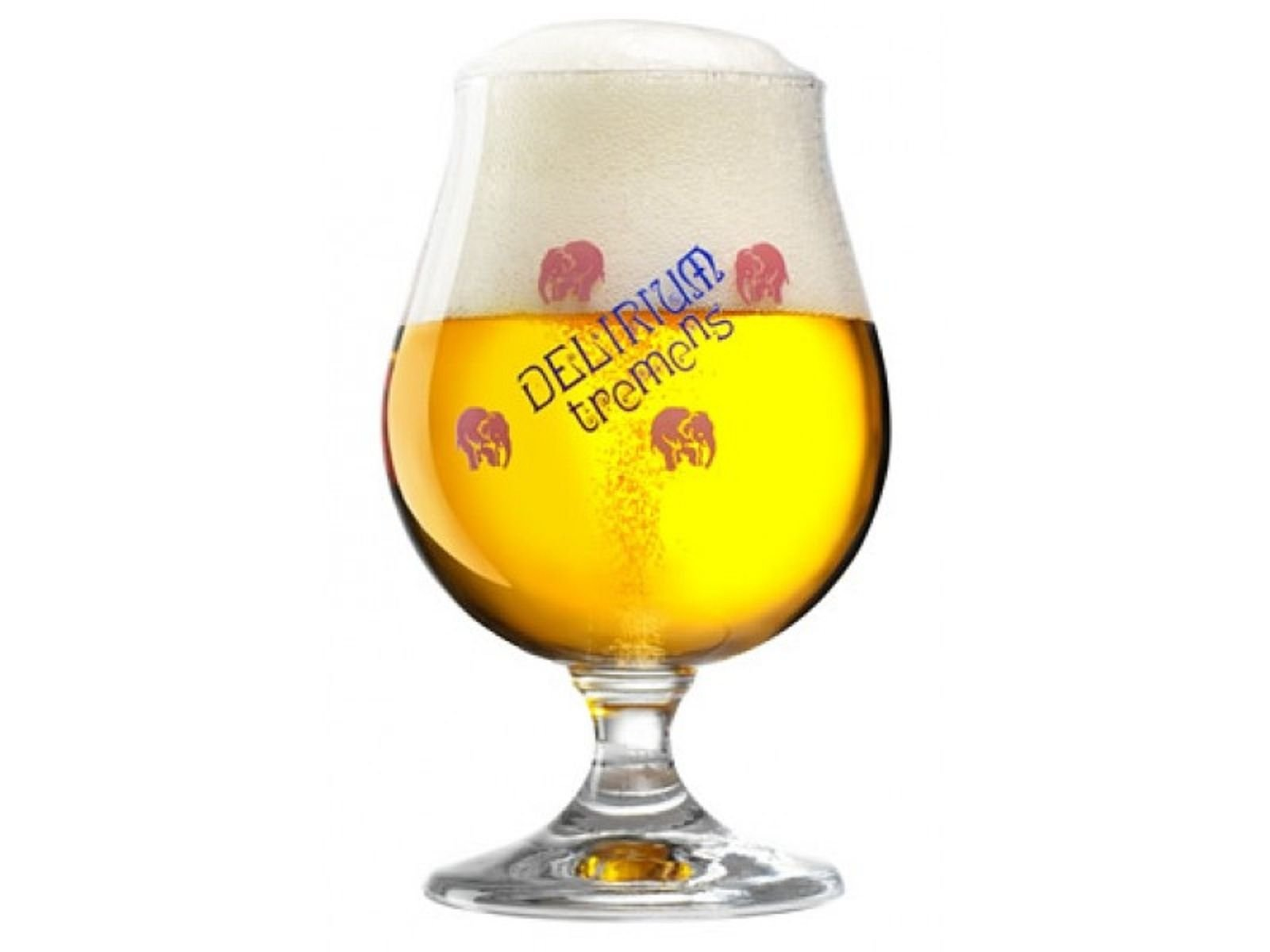 Delirium Tremens Belgian Chalice/Goblet Beer Glass 0.33L - Set of 2