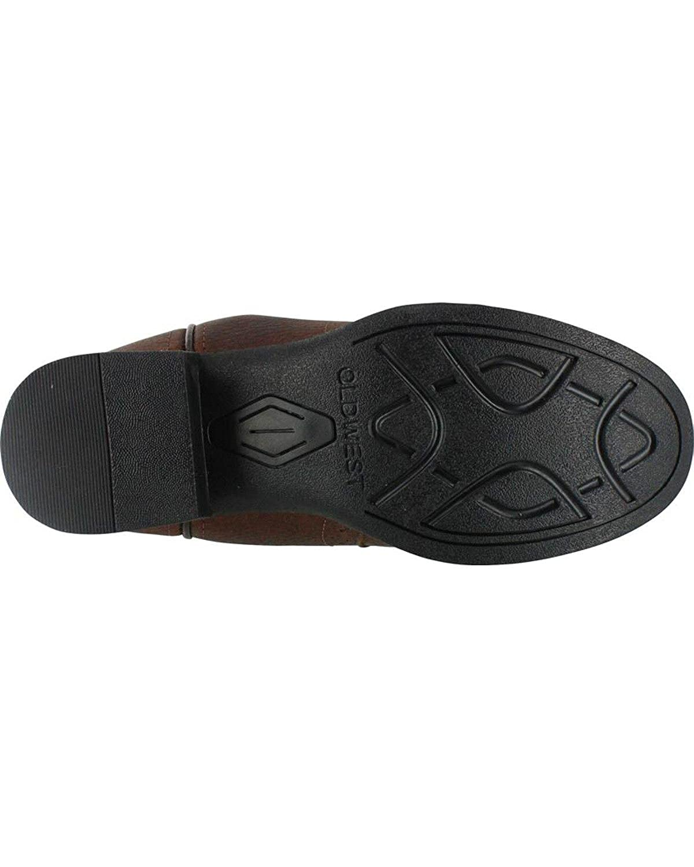 M US Cody James Boys Cowboy Boot Round Toe Brown 2.5 D