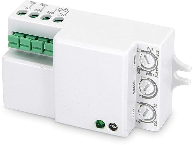 Empotrable HF Detector de movimiento 360 ° con sensor crepuscular 230 V – LED Adecuado –