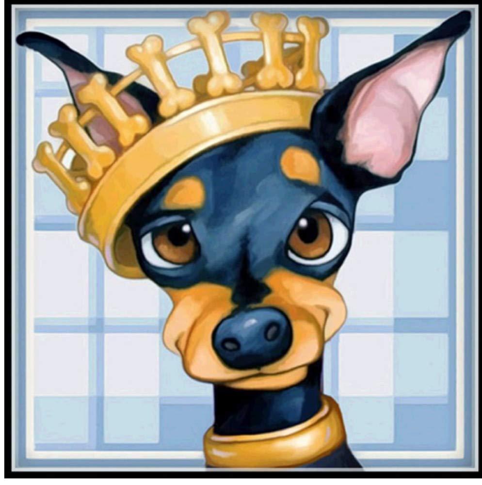 HHZDH Tier Hund Cut Dog Wolf Schatten Mosaik 5D DIY Malerei Diamant Quadrat Voller Schnitt Nadel Stickerei Kreuzstich 40X50 cm Basteln, Malen & Nähen Mosaikherstellung
