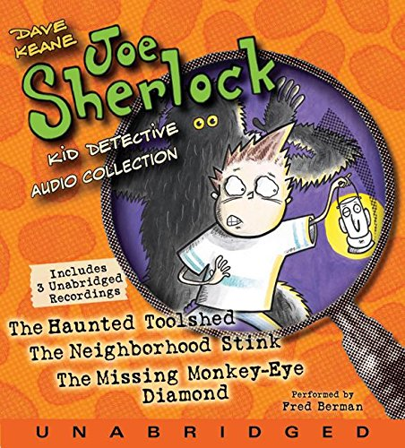 Joe Sherlock, Kid Detective CD Audio Collection: Case 000001:The Haunted Toolshed,Case 000002:The Neighborhood Stink,Case 000003:The Missing Monkey-Eye Diamond by Harper Festival