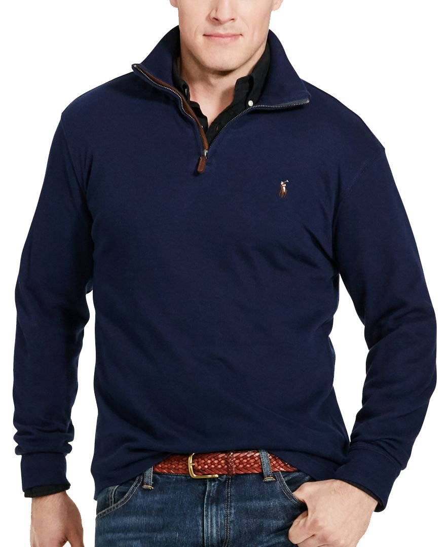 RALPH LAUREN Polo Men Estate Rib Half Zip Sweater XL