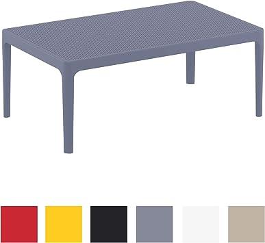 I De Aux en Aux Plastique Table Lounge CLP Rayons Foncé Sky I D'Etérieur Intempéries Table Jardin Résistante Table Et Gris UV rBhdsQCotx