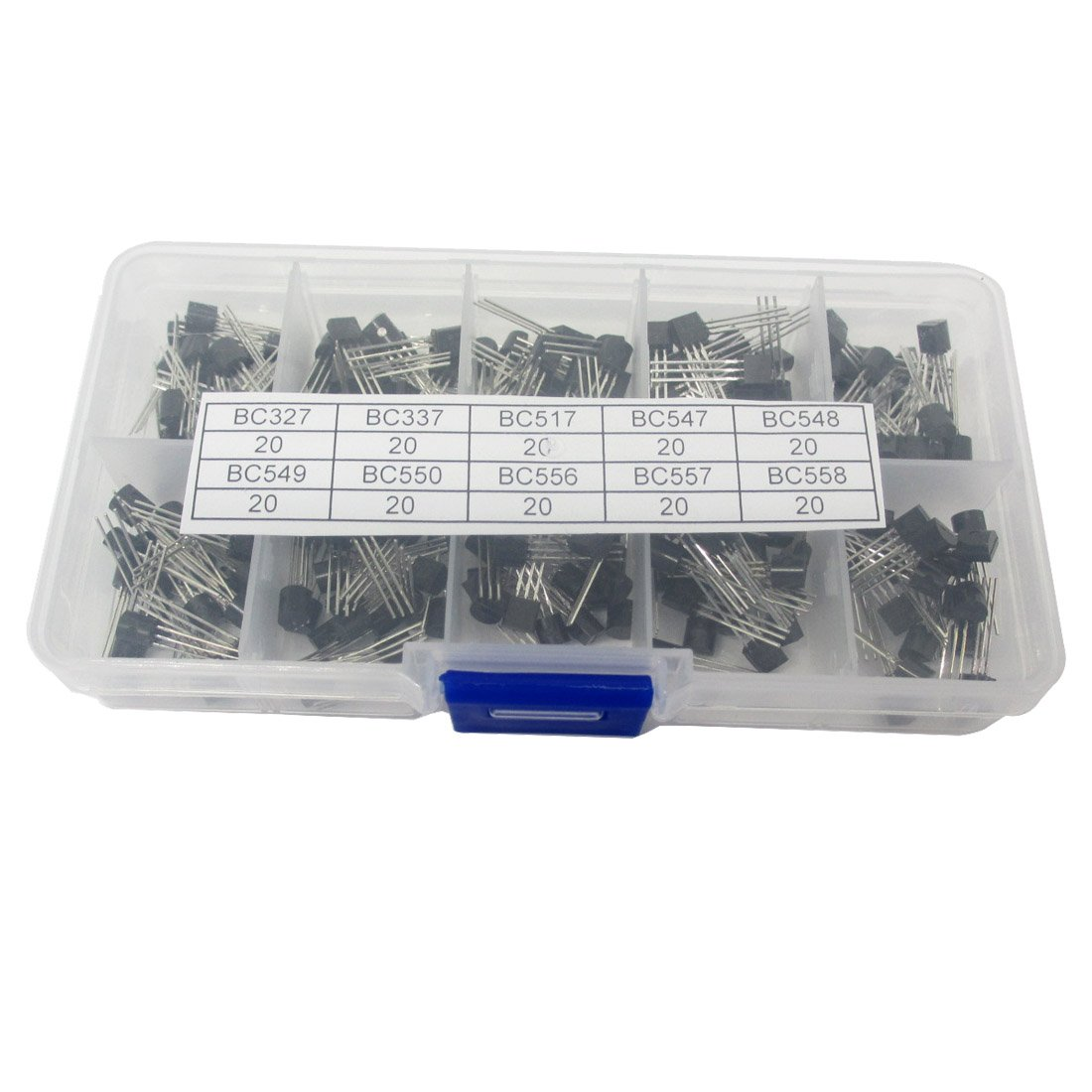 10Values 200PCS NPN PNP Transistor Assorted Kit BC327 BC337 BC517 BC547 BC548 BC549 BC550 BC556 BC557 BC558