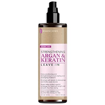 02331bbb5a3 JOANNE JONES Strengthening Natural Argan and Keratin Hair Shampoo,  Conditioner and Hair Styling Leave-