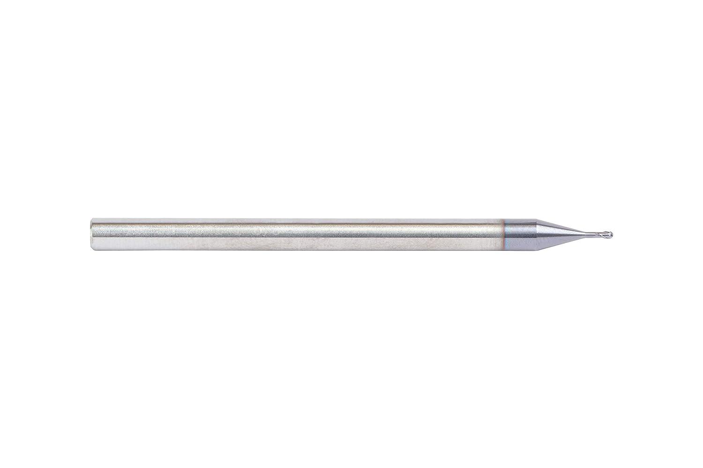 1 mm Cutting Dia Carbide WIDIA Hanita 70N101001RT Vision Plus 70N1 HP Hard Material End Mill RH Cut Straight Shank TiAlN Coating 2-Flute
