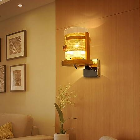 apliques de pared Lámpara de cabecera de madera Escalera de madera Lámparas de pasillo / Lámparas de
