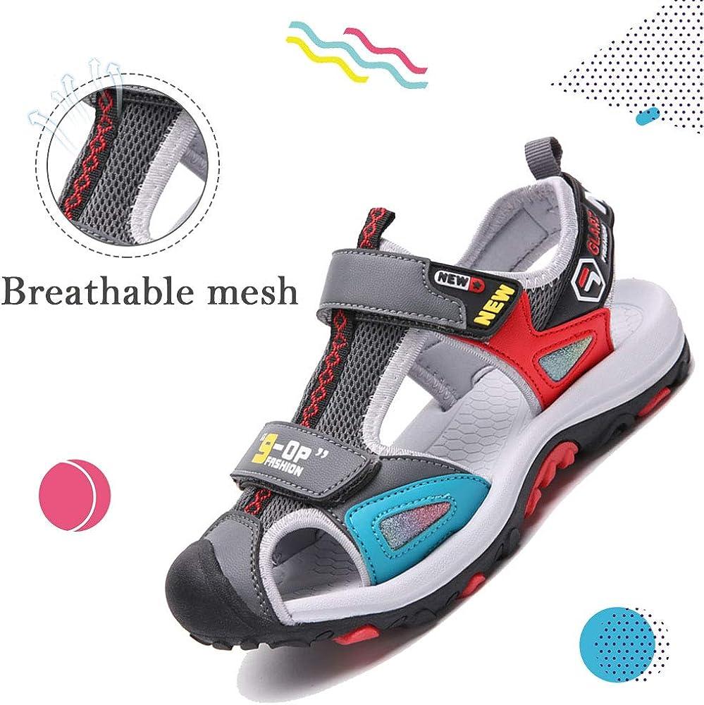 SITAILE Boy Girls Sandals Soft Sole Close Toe Sport Beach Summer Kid Sandals
