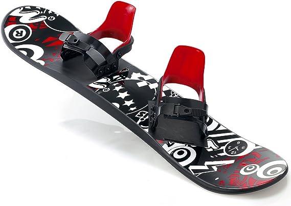 Snowboard für Kinder Schlitten Board 95cm Kunststoff Plastik mit Bindung Sport