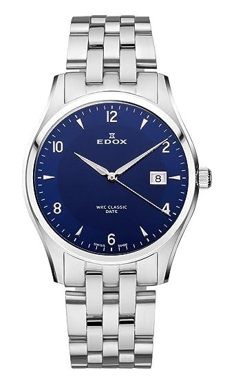 EDOX 70171 3 BUIN - Reloj de Pulsera Hombre, Acero Inoxidable, Color Plata