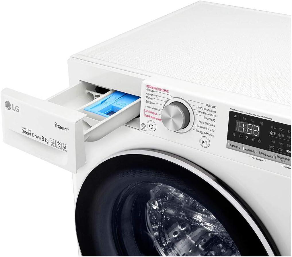 LG - Lavadora Inteligente De Carga Frontal Lg F4Wv508S0 De 8 Kg Y ...