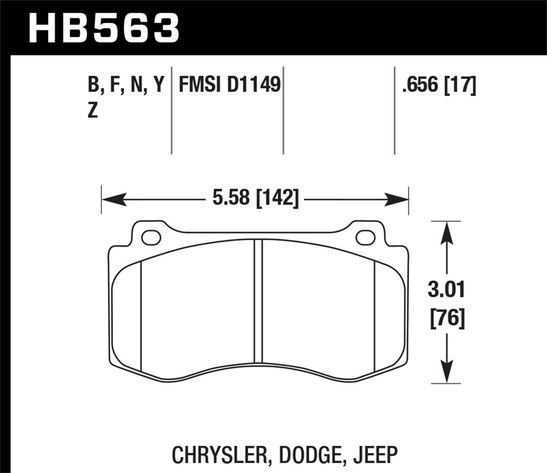 Hawk Performance HB563F.656 HPS Performance Ceramic Brake Pad