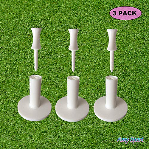 (Amy Sport Golf Tees Rubber Driving Range Holder Value 3 Pack Size 1.5