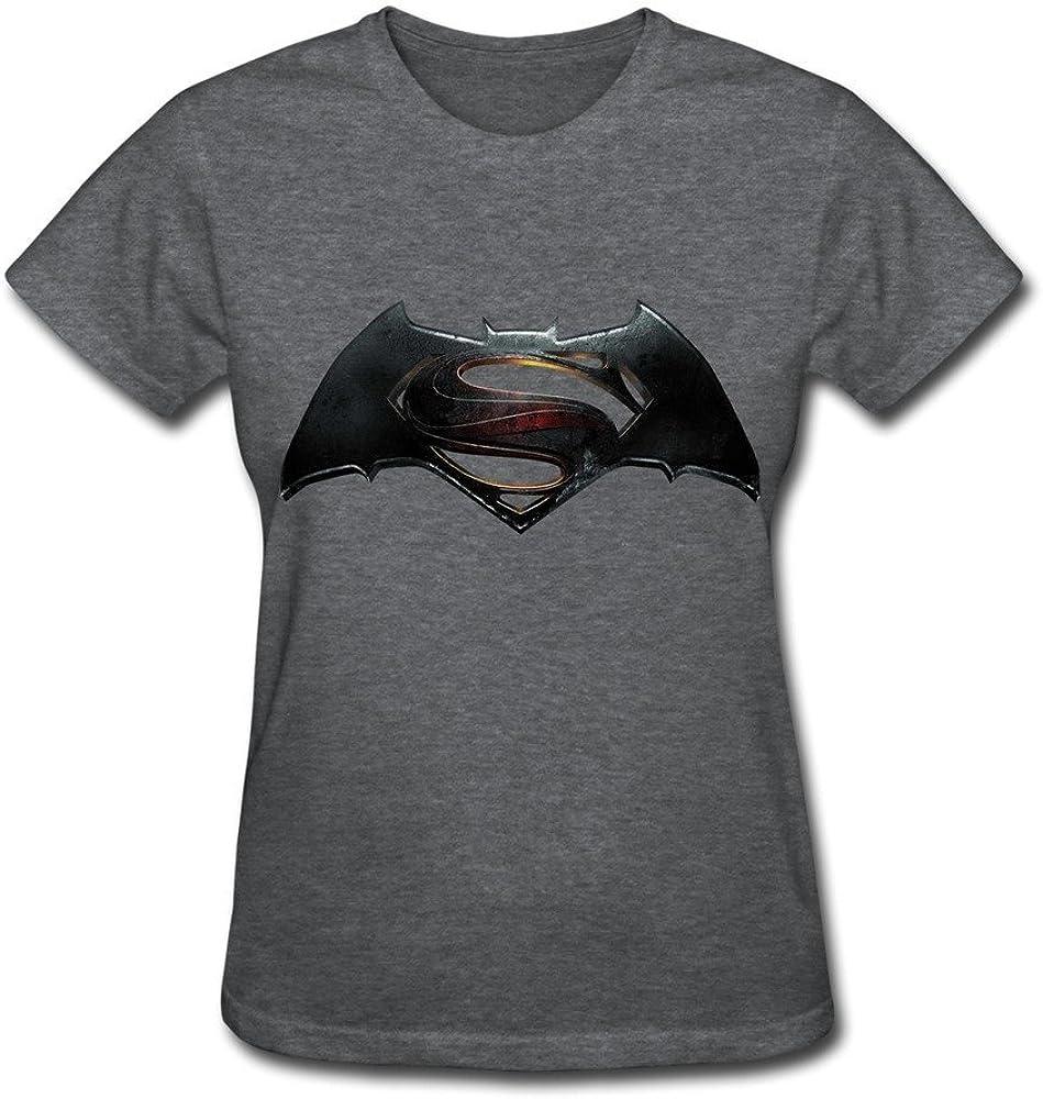 HD-Print Cool Batman Superman Dawn Justice Logo T Shirt for Woman Pink